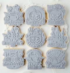 Paku Malzeme - Plastik kalıp HALLOWEEN PARTY; 7,5*7,25 cm (1)