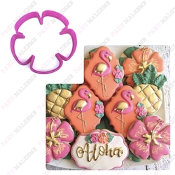 Paku Malzeme - Plastik Kalıp Hibiscus; 8,5 cm