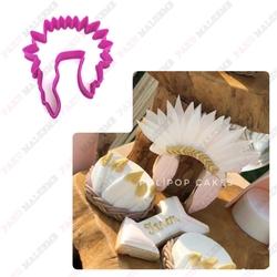 Paku Malzeme - Plastik Kalıp Kızılderili Indian Hat; 9*8 cm (1)