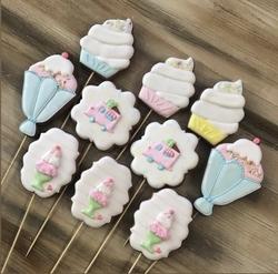 Paku Malzeme - Plastik Kalıp Külahta Dondurma; 11*7 cm (1)