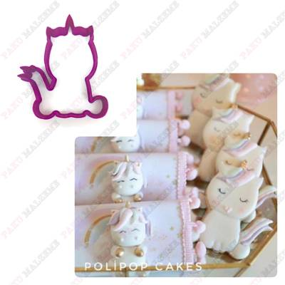 Plastik kalıp Kuyruklu Unicorn; 9,4*7,0 cm
