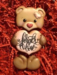 Paku Malzeme - Plastik kalıp Love Bear Ayıcık; 15,5*10 cm (1)