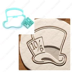 Paku Malzeme - Plastik kalıp Madhatter Alice Şapka; 8,0*8,0 cm