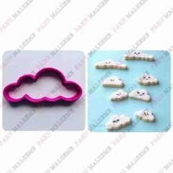 Paku Malzeme - Plastik Kalıp Mini Bulut-2; 5,8*2,9 cm