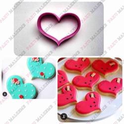 Paku Malzeme - Plastik Kalıp Mini Chubby Heart; 5 cm