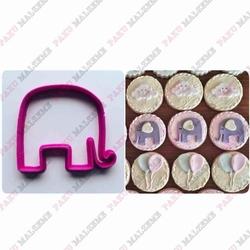 Paku Malzeme - Plastik Kalıp Mini Fil; 5*4,2 cm