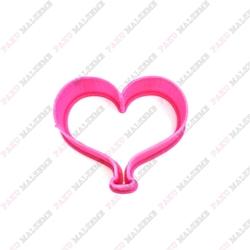 Paku Malzeme - Plastik Kalıp Mini Kalp Balon;4,5*3,7 cm