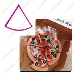 Paku Malzeme - Plastik Kalıp Pizza Dilimi; 11 cm