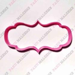 Paku Malzeme - Plastik Kalıp Plaka-168; 11*5,5 cm