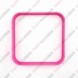Paku Malzeme - Plastik Kalıp Rounded Kare; 8*8 cm