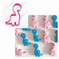 Paku Malzeme - Plastik Kalıp Sevimli Dino; 9,5*7,5 cm