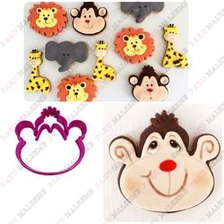 Paku Malzeme - Plastik Kalıp Sevimli Maymun; 8*7,7 cm