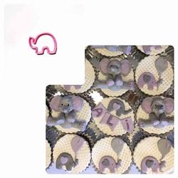 Paku Malzeme - Plastik Kalıp Şirin Fil-S boy; 4*3 cm