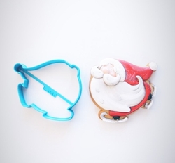 Paku Malzeme - Plastik kalıp SKATING SANTA Noelbaba; 9,5*7,7 cm