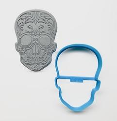 Paku Malzeme - Plastik kalıp SKULL; 9,8*6,7 cm
