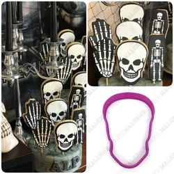 Paku Malzeme - Plastik Kalıp Skull Kurukafa; 10,5*7,2 cm