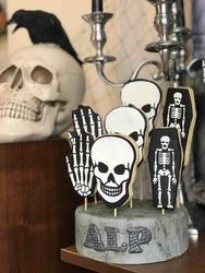 Paku Malzeme - Plastik Kalıp Skull Kurukafa; 10,5*7,2 cm (1)
