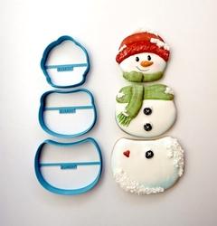 Paku Malzeme - Plastik kalıp SNOWMAN 3 PIECE 3 parça Kardanadam; 18,8*8,2 cm