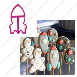 Paku Malzeme - Plastik kalıp Space Rocket Uzay Roketi; 10*6,3 cm