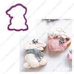 Paku Malzeme - Plastik kalıp Tavşan-3; 9*7 cm