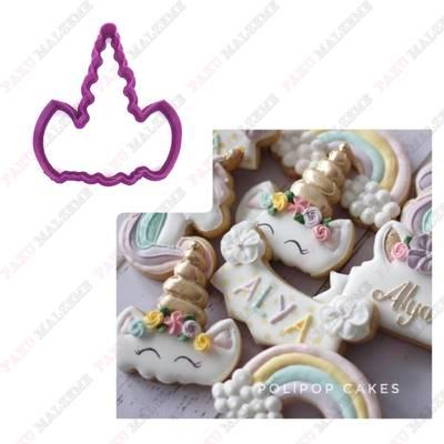 Plastik kalıp Unicorn Boynuz; 8,4*7,5 cm