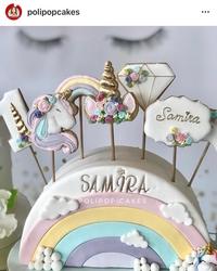 Plastik kalıp Unicorn Boynuz; 8,4*7,5 cm - Thumbnail