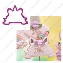 Paku Malzeme - Plastik kalıp Unicorn Frame; 9,7*8,0 cm