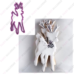 Paku Malzeme - Plastik Kalıp Zarif Geyik; 11*4,3 cm