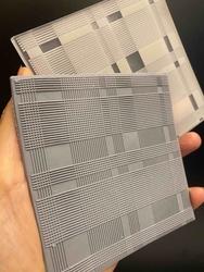 Paku Malzeme - Pop-it stamp kaşe Ekose doku-2; 10,0*10,0 cm (1)