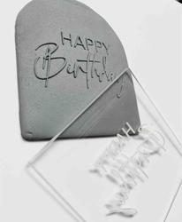 Paku Malzeme - Pop-it stamp kaşe HAPPY BIRTHDAY-1; 8,0*8,0 cm (1)