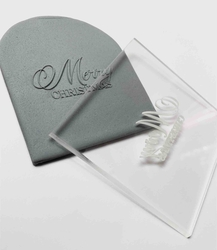 Paku Malzeme - Pop-it stamp kaşe MERRY CHRISTMAS; 8,0*8,0 cm (1)
