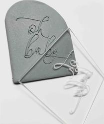 Paku Malzeme - Pop-it stamp kaşe OH BABY; 8,0*8,0 cm (1)