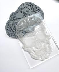 Paku Malzeme - Pop-it stamp kaşe SKULL Ölüler Bayramı Kurukafa; 10,0*7,0 cm (1)