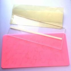Paku Malzeme - Şeffaf Pleksi Baskı Plakası; 24*10*0,5 cm (1)