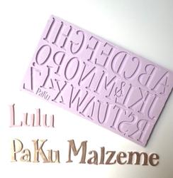 Paku Malzeme - Silikon Alfabe Lulu Büyük Harf