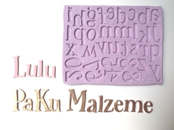 Paku Malzeme - Silikon Alfabe Lulu Küçük Harf ve Rakam