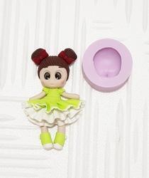 Paku Malzeme - Silikon Bebek Yüzü Kafa; 3,0*2,5 cm