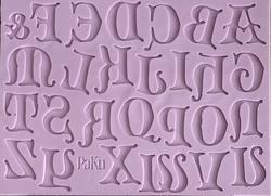 Paku Malzeme - Silikon Calligraphy Alfabe Gothica Büyük harf set