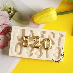 Paku Malzeme - Silikon Cubic Numbers (Rakam boyu 24 mm); 8,2*7,5 cm