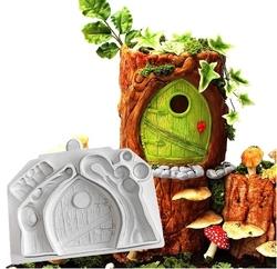 Paku Malzeme - Silikon Fairyland Kış Masalı kapı; 17,7*12,5 cm