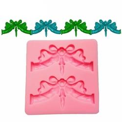Paku Malzeme - Silikon kalıp 2li Ribbon Swag; 8*8 cm