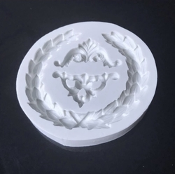 Paku Malzeme - Silikon kalıp Antique Wreath; 9 cm