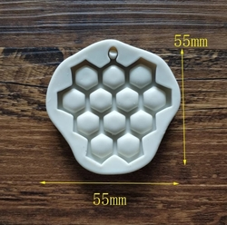 Paku Malzeme - Silikon kalıp Balpeteği; 5,5*5,5 cm