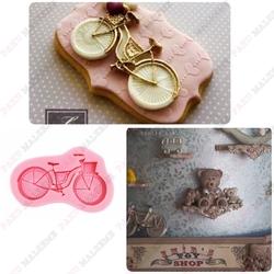 Paku Malzeme - Silikon kalıp Bisiklet; 7,6*4,5 cm