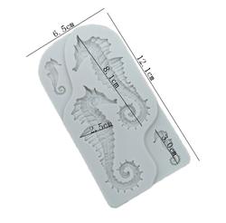 Paku Malzeme - Silikon kalıp Büyük Denizatı; 12,5*6,7 cm (1)