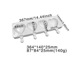 Diğer - Silikon kalıp Cakesicle Kalpli; 39*14 cm (1)