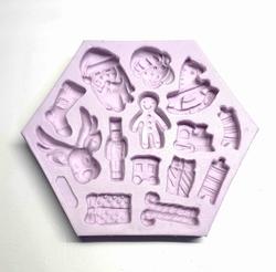 Paku Malzeme - Silikon kalıp Christmas Elements; 13,2*11 cm
