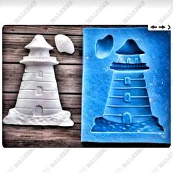 Paku Malzeme - Silikon kalıp Deniz Feneri; 6,8*5,4 cm