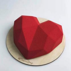Diğer - Silikon kalıp Elmas Kalp pinyata; 20*18,5 cm (1)