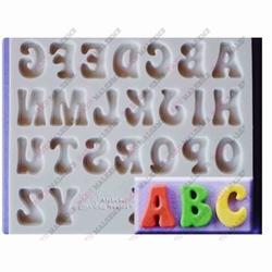 Paku Malzeme - Silikon kalıp Fun Font büyük harfler; 13*10,8 cm